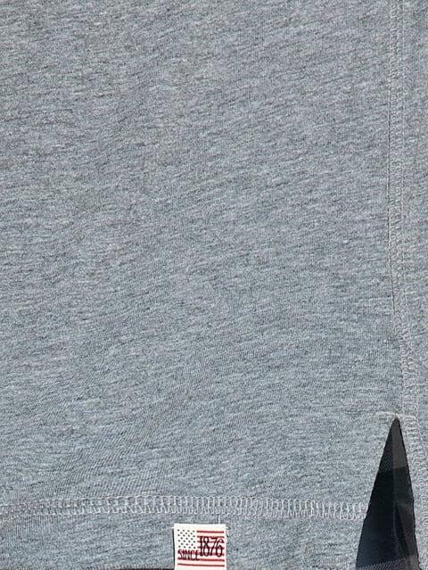 Grey Melange Henley Half Sleeve T-Shirt