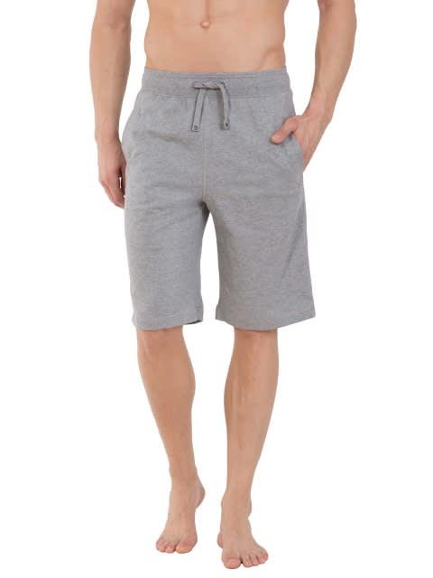 Grey Melange & Charcoal Melange Lounge Shorts