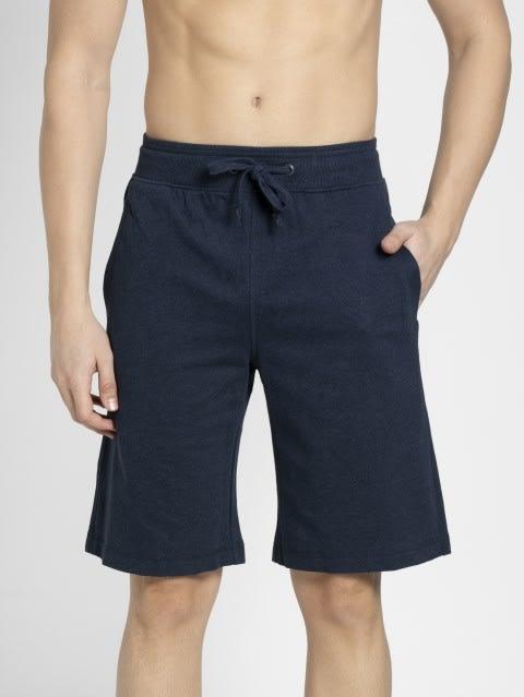 Ink Blue Melange & Grey Melange Lounge Shorts