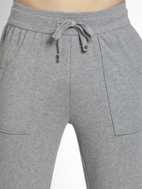 Grey Melange Track Pant