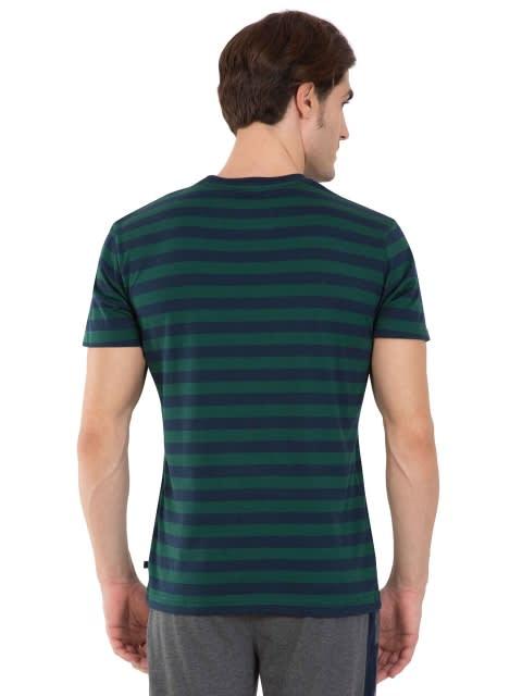 Navy & Eaden Green Crew neck T-shirt