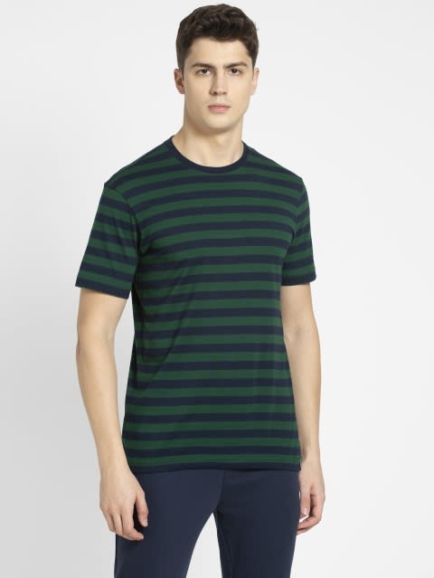 Navy & Eaden Green Crew neck T-shirt