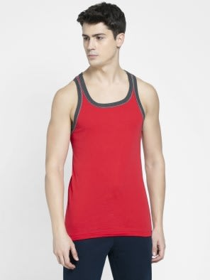 Team Red & Charcoal Melange Fashion Power Vest