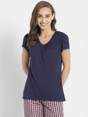 Classic Navy V - Neck T-Shirt