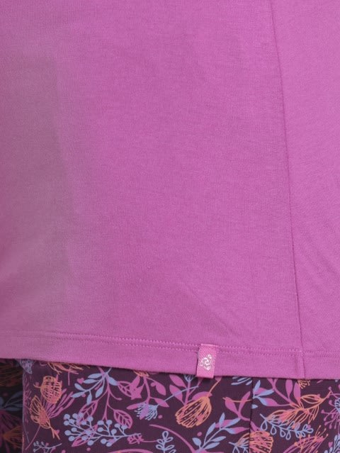 Lavendor Scent V - Neck T-Shirt