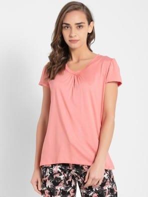 Peach Blossom V - Neck T-Shirt