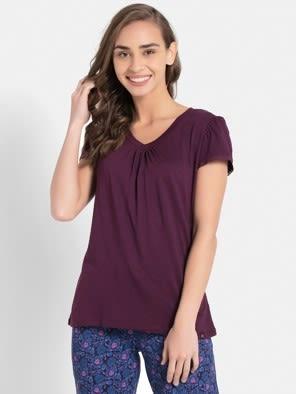 Purple Wine V - Neck T-Shirt