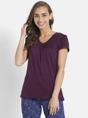 Purple Wine V - Neck T-Shirt