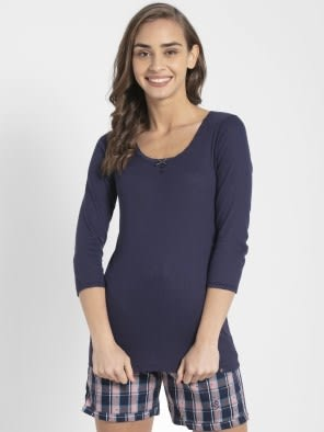 Classic Navy 3/4 Sleeve Top