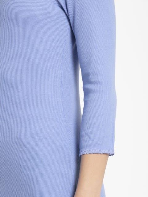 Iris Blue 3/4 Sleeve Top