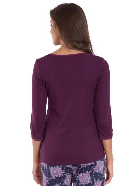 Purple Wine 3/4 Sleeve Top