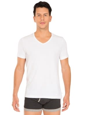 White V-Neck Undershirt