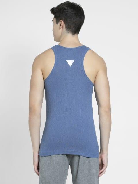 Light Denim Melange Racer Back Shirt