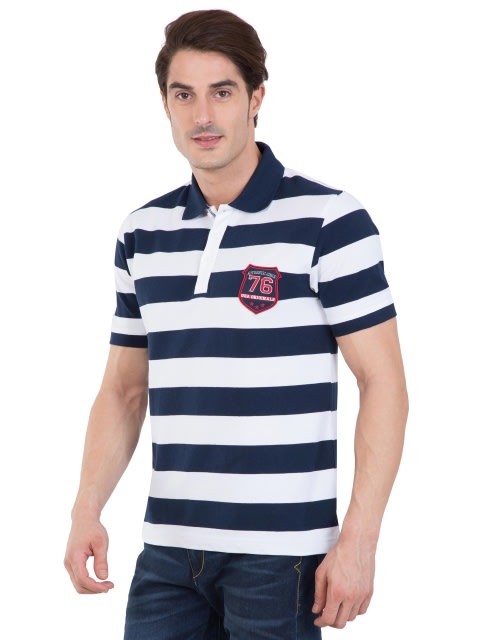 Navy & White Half Sleeve POLO T-Shirt