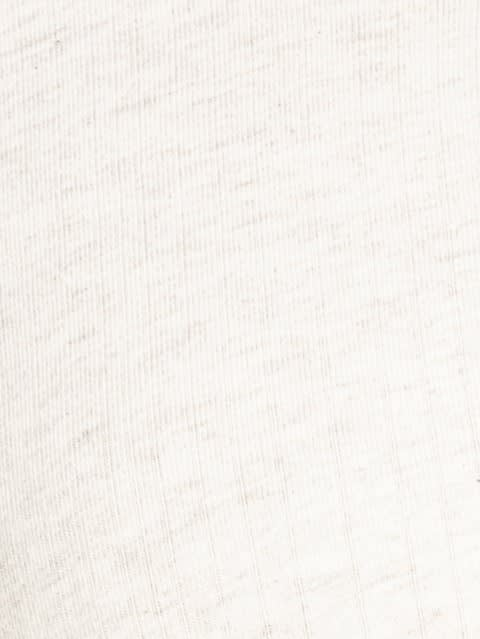 Cream Melange Short Sleeve Slim fit henley