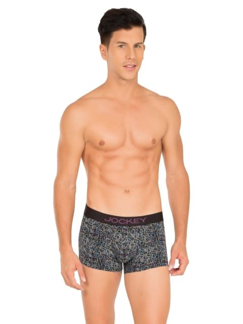 Black with Plum Text Printed Trunk