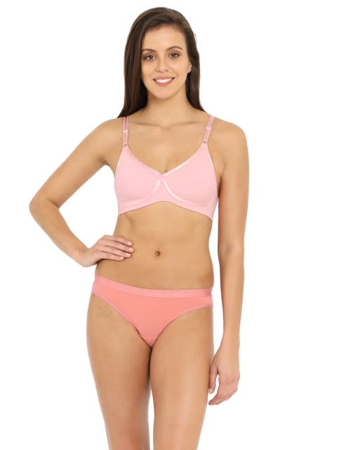 Candy Pink Cross Over Bra