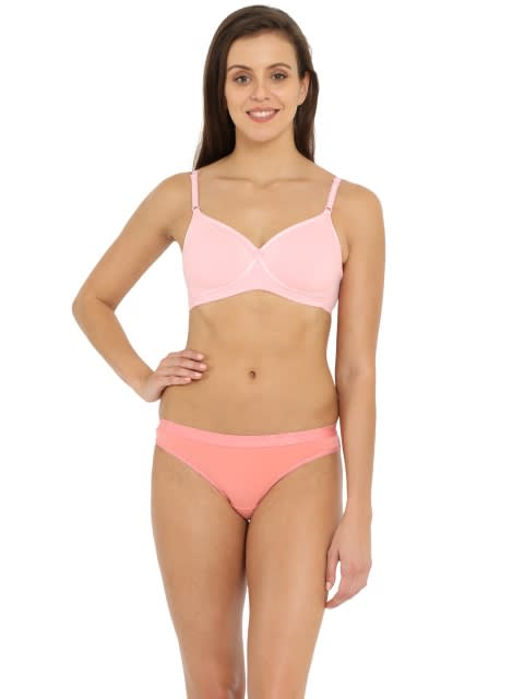 Candy Pink Seamless Cross Over Bra