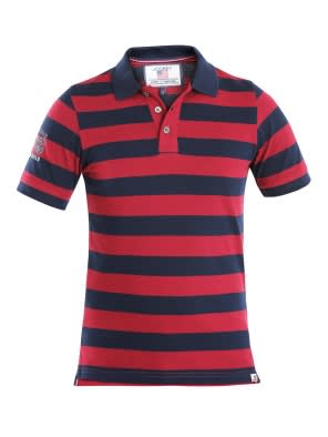 Navy & Deep Red Boys Half Sleeve POLO T-shirt