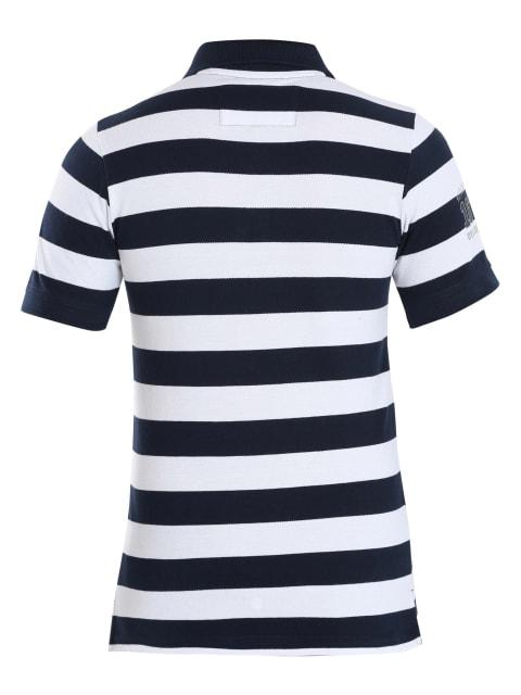Navy & White Boys Half Sleeve POLO T-shirt
