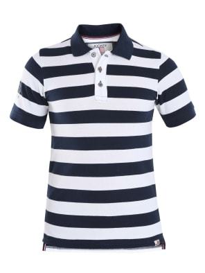 Navy & White Boys Half Sleeve POLO T-shirt