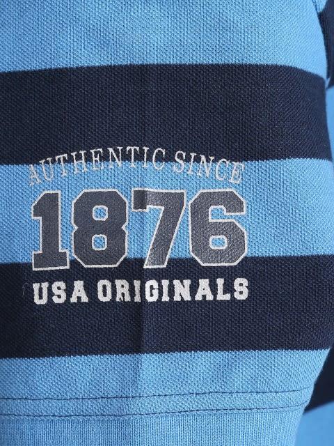 Parisian Blue & Navy Boys Half Sleeve POLO T-shirt