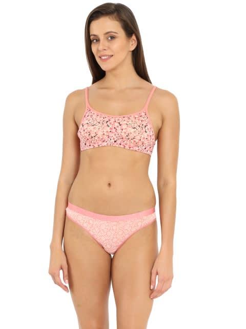 Peach Blossom Print Bikini