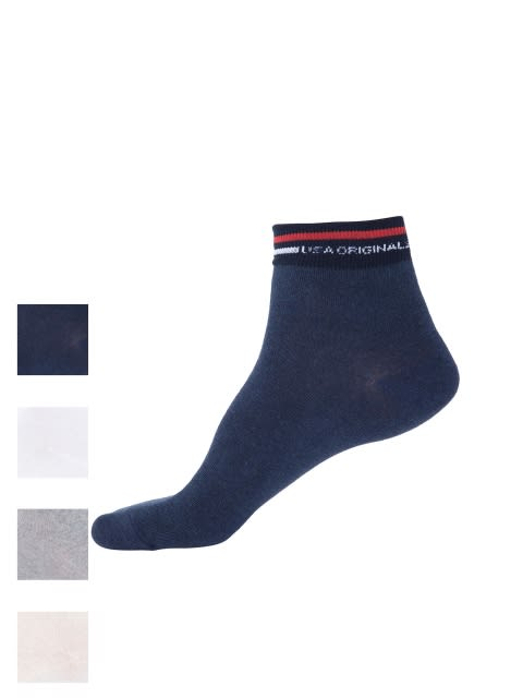 Light Color Ankle Socks Combo - Pack of 4