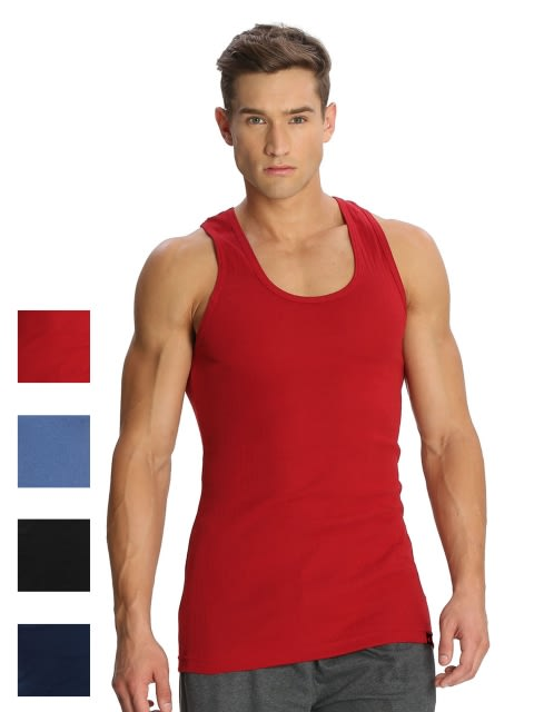 Fashion Color Racer Back Shirt Combo - Pack of 4