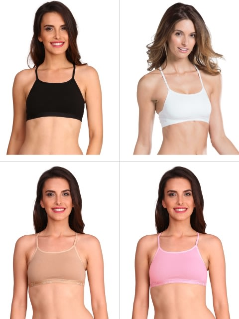 Multi Color Crop Top Combo - Pack of 4
