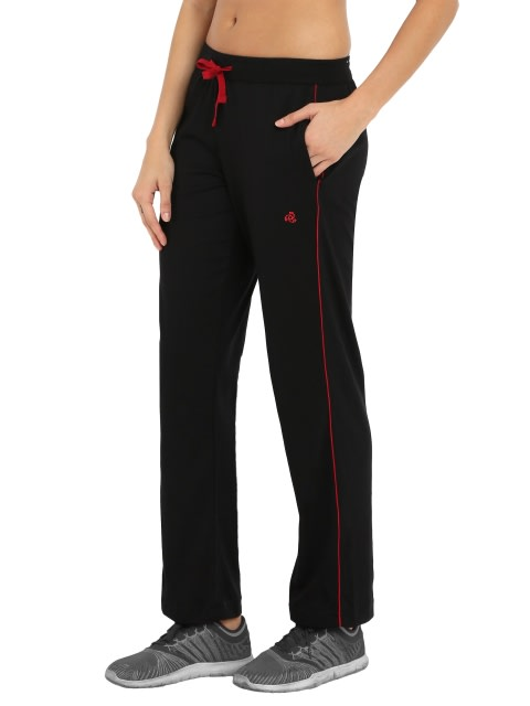 Black & Jester Red Track Pant