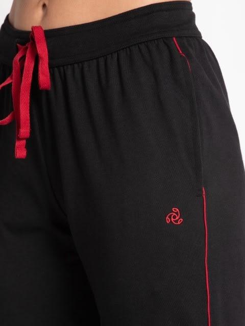 Black & Jester Red Track Pant