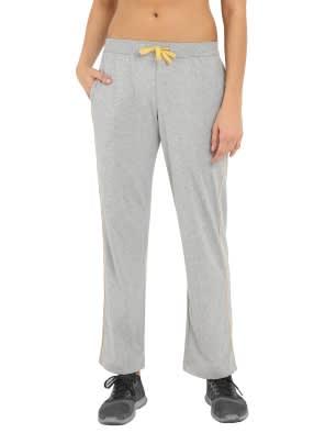 Grey Melange & Banana Cream Track Pant