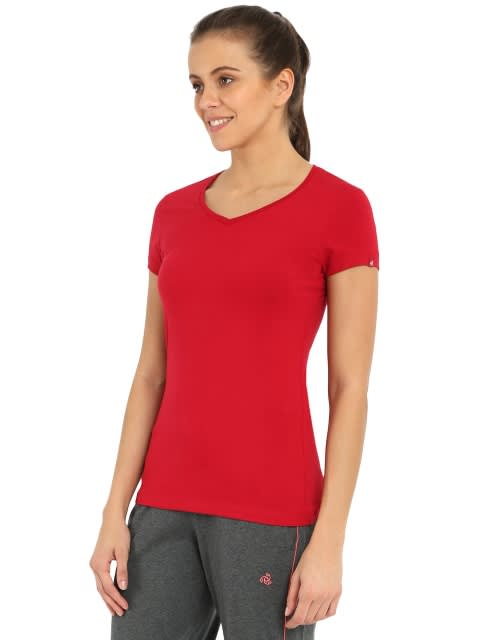 Jester Red V-neck Tee