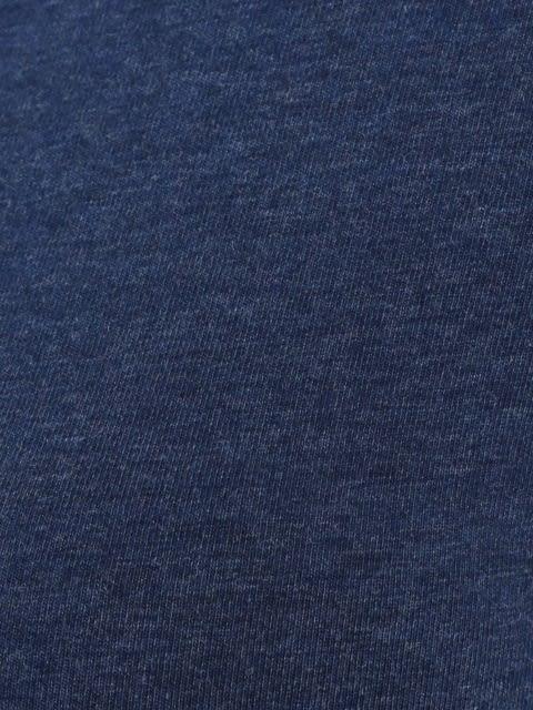 Medieval Blue Melange V-neck Tee