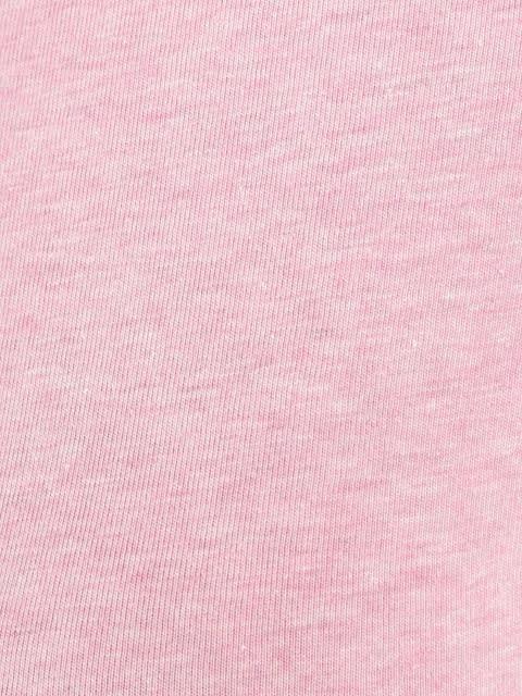 Pink Lady Melange V-neck Tee