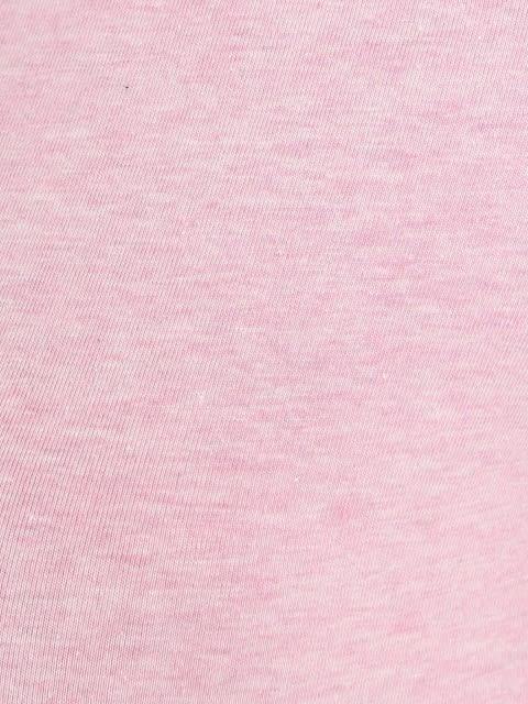 Pink Lady Melange Round Neck T-Shirt