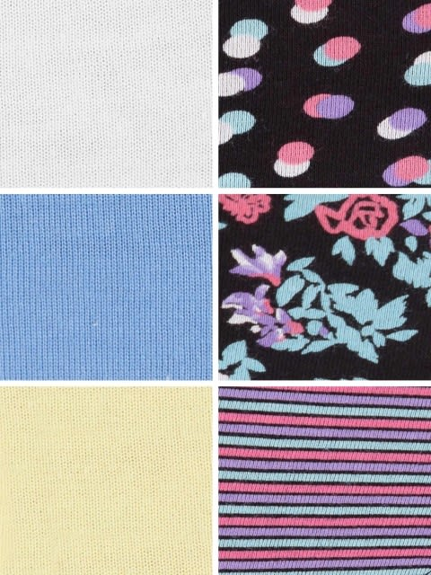 Light Assorted & Dark Prints Hipster Combo - Pack of 6