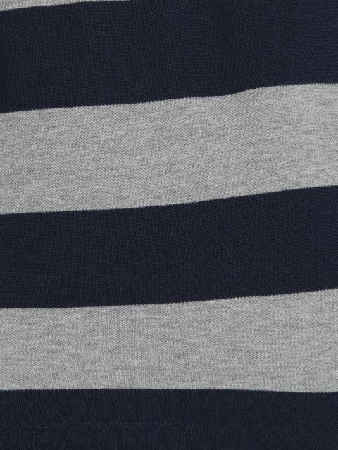 Grey Melange & Navy Half Sleeve POLO T-Shirt