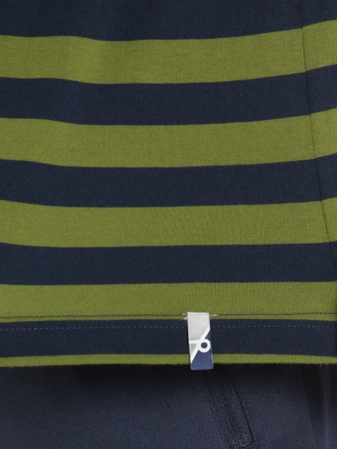 Navy & Cedar Green Crew neck T-shirt