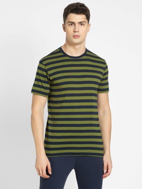 Navy & Cedar Green Crew neck T-shirt