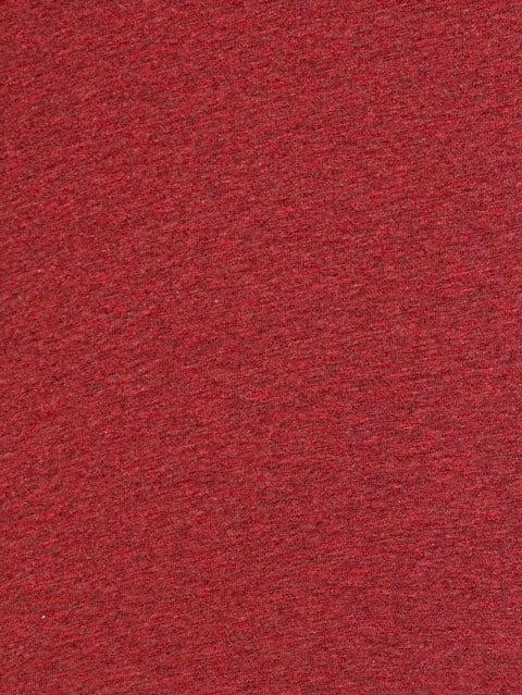 Red Melange Henley Half Sleeve T-Shirt