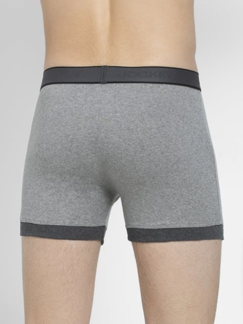 Grey Melange & Charcoal Melange Boxer Brief Pack of 2