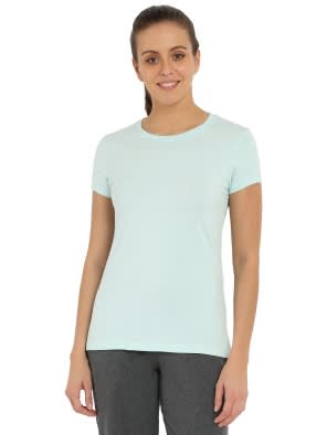 Blue Tint Melange Round Neck T-Shirt