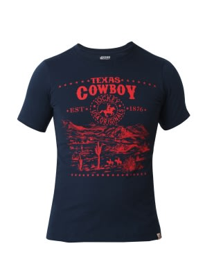 Navy Prints Boys Printed T-Shirt