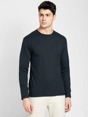 Black Melange Long Sleeved T-Shirt