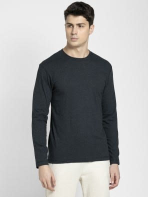 Black Melange Long Sleeved T-Shirt