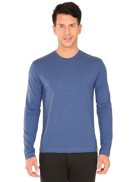 Light Denim Melange Long Sleeved T-Shirt