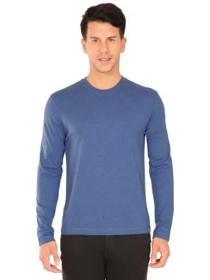 Light Denim Melange Long Sleeved T-Shirt