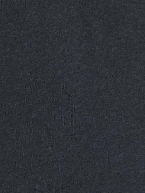 Black Melange Long Sleeve Henley T-Shirt